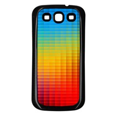Blurred Color Pixels Samsung Galaxy S3 Back Case (black) by BangZart