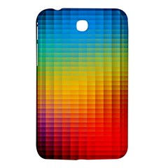 Blurred Color Pixels Samsung Galaxy Tab 3 (7 ) P3200 Hardshell Case