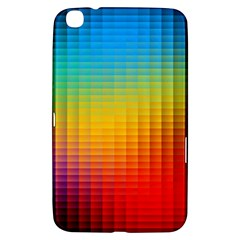 Blurred Color Pixels Samsung Galaxy Tab 3 (8 ) T3100 Hardshell Case