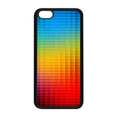 Blurred Color Pixels Apple Iphone 5c Seamless Case (black) by BangZart