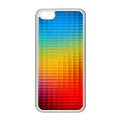 Blurred Color Pixels Apple Iphone 5c Seamless Case (white) by BangZart
