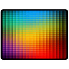 Blurred Color Pixels Double Sided Fleece Blanket (large)  by BangZart