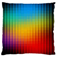 Blurred Color Pixels Standard Flano Cushion Case (one Side) by BangZart