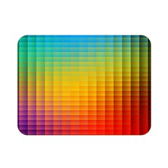 Blurred Color Pixels Double Sided Flano Blanket (mini)  by BangZart
