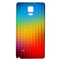Blurred Color Pixels Galaxy Note 4 Back Case