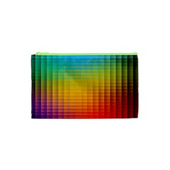 Blurred Color Pixels Cosmetic Bag (xs) by BangZart