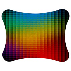 Blurred Color Pixels Jigsaw Puzzle Photo Stand (bow)