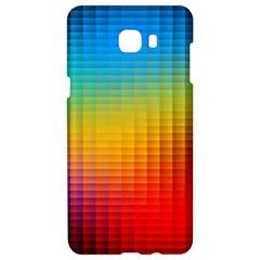 Blurred Color Pixels Samsung C9 Pro Hardshell Case