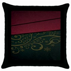 Beautiful Floral Textured Throw Pillow Case (black) by BangZart