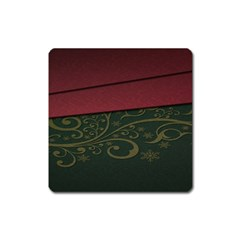 Beautiful Floral Textured Square Magnet