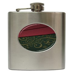 Beautiful Floral Textured Hip Flask (6 Oz) by BangZart