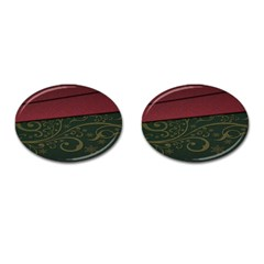 Beautiful Floral Textured Cufflinks (oval) by BangZart