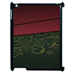 Beautiful Floral Textured Apple Ipad 2 Case (black)