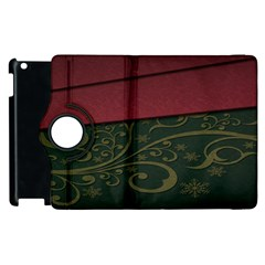 Beautiful Floral Textured Apple Ipad 2 Flip 360 Case by BangZart