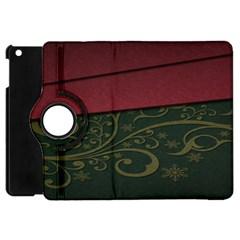 Beautiful Floral Textured Apple Ipad Mini Flip 360 Case