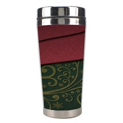 Beautiful Floral Textured Stainless Steel Travel Tumblers
