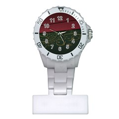 Beautiful Floral Textured Plastic Nurses Watch by BangZart
