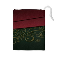 Beautiful Floral Textured Drawstring Pouches (large)