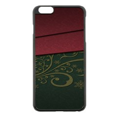 Beautiful Floral Textured Apple Iphone 6 Plus/6s Plus Black Enamel Case by BangZart