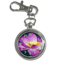 Pink Lotus Flower Key Chain Watches by BangZart