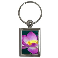 Pink Lotus Flower Key Chains (rectangle)  by BangZart