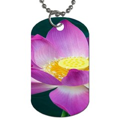 Pink Lotus Flower Dog Tag (two Sides) by BangZart