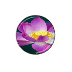 Pink Lotus Flower Hat Clip Ball Marker (4 Pack) by BangZart