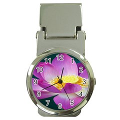 Pink Lotus Flower Money Clip Watches by BangZart