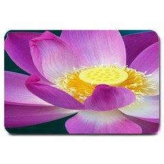 Pink Lotus Flower Large Doormat