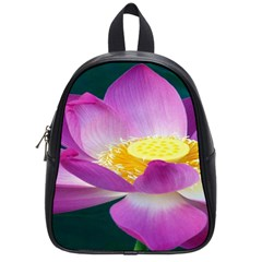 Pink Lotus Flower School Bags (small)  by BangZart
