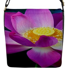 Pink Lotus Flower Flap Messenger Bag (s) by BangZart