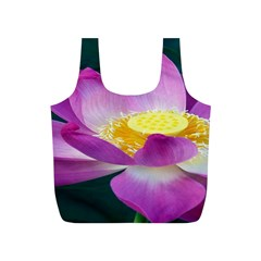 Pink Lotus Flower Full Print Recycle Bags (s)  by BangZart