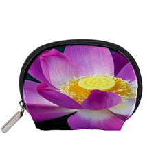 Pink Lotus Flower Accessory Pouches (small)  by BangZart