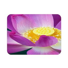 Pink Lotus Flower Double Sided Flano Blanket (mini)  by BangZart