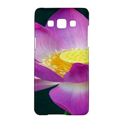 Pink Lotus Flower Samsung Galaxy A5 Hardshell Case  by BangZart