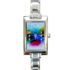 Abstract Color Plants Rectangle Italian Charm Watch by BangZart