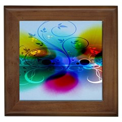 Abstract Color Plants Framed Tiles