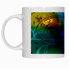 Abstract Color Plants White Mugs by BangZart