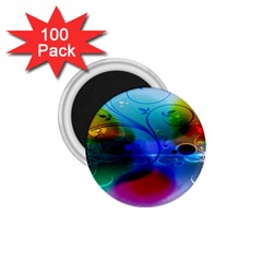 Abstract Color Plants 1 75  Magnets (100 Pack)