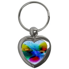 Abstract Color Plants Key Chains (heart)  by BangZart