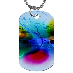 Abstract Color Plants Dog Tag (two Sides)