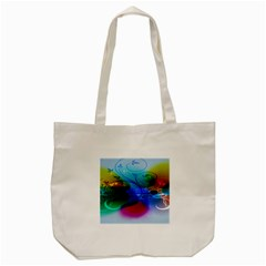 Abstract Color Plants Tote Bag (cream) by BangZart