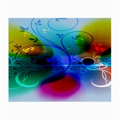 Abstract Color Plants Small Glasses Cloth (2 Side) by BangZart