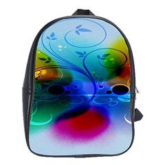 Abstract Color Plants School Bags(large)