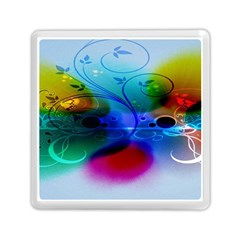 Abstract Color Plants Memory Card Reader (square)  by BangZart
