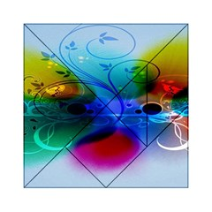 Abstract Color Plants Acrylic Tangram Puzzle (6  X 6 )