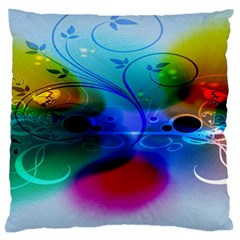 Abstract Color Plants Large Cushion Case (two Sides) by BangZart