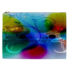 Abstract Color Plants Cosmetic Bag (xxl)
