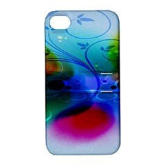 Abstract Color Plants Apple Iphone 4/4s Hardshell Case With Stand by BangZart