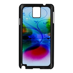 Abstract Color Plants Samsung Galaxy Note 3 N9005 Case (black)